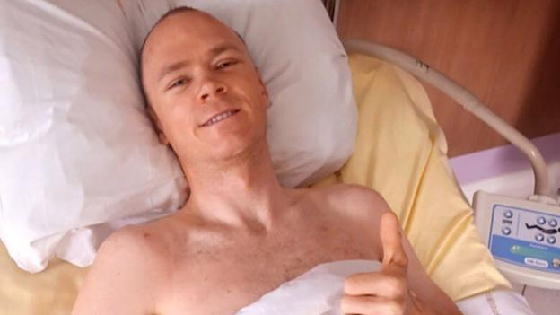 Chris Froome is back at home to start recovery after crash