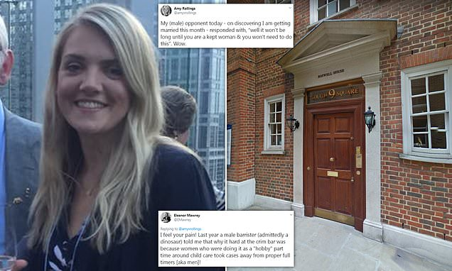 Female barrister told by male rival she'd be 'kept woman' when married