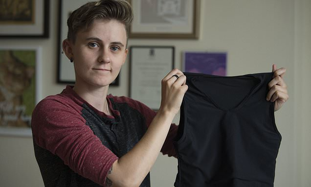 Transgender charity worker fractures ribs wearing binder to hide chest