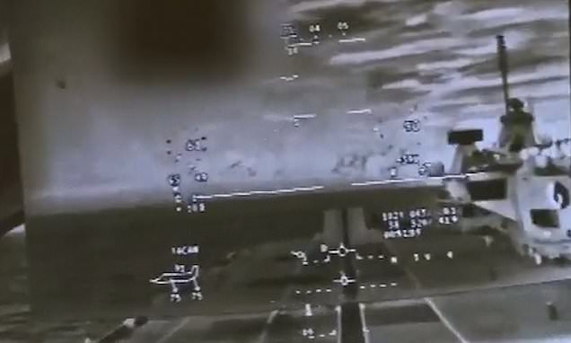 Footage shows F-35 pilot's view of landing on HMS Queen Elizabeth