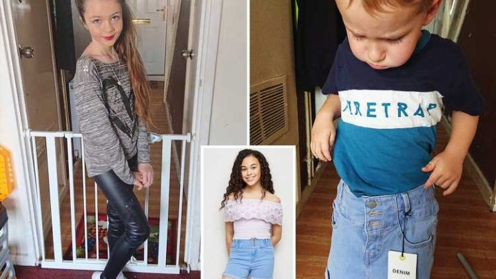 Girl, 10, convinced she has 'fat thighs' after the age-10 New Look shorts she bought were so small they fit her three-year-old brother