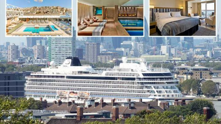 Viking Sun ship docks in London for start of world's longest cruise of 245 days with 100,000 bottles of champers – The Sun