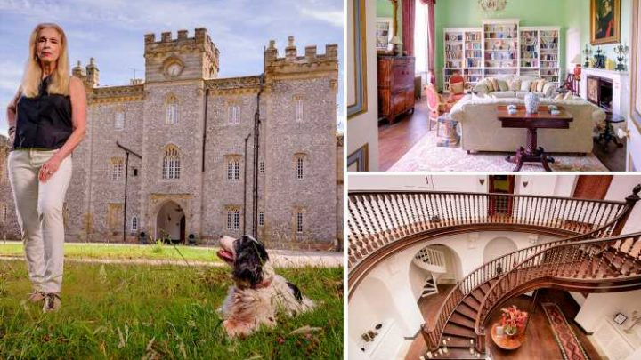 Inside Celebs Go Dating star Lady C's incredible gothic castle with turrets, glass dome, grand spiral staircase – and two hot sons
