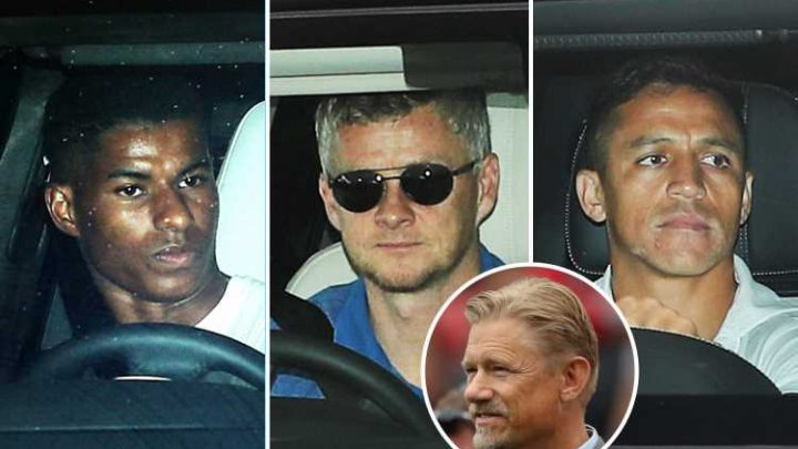 Man Utd flops arrive for training on Bank Holiday after shock Crystal Palace loss as Schmeichel demands club clear out deadwood before transfer window shuts – The Sun