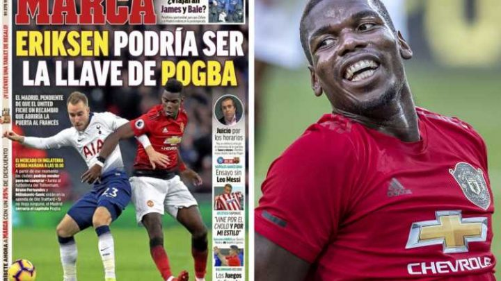 Real Madrid convinced Man Utd will allow Paul Pogba to leave if Spurs agree to Christian Eriksen transfer – The Sun