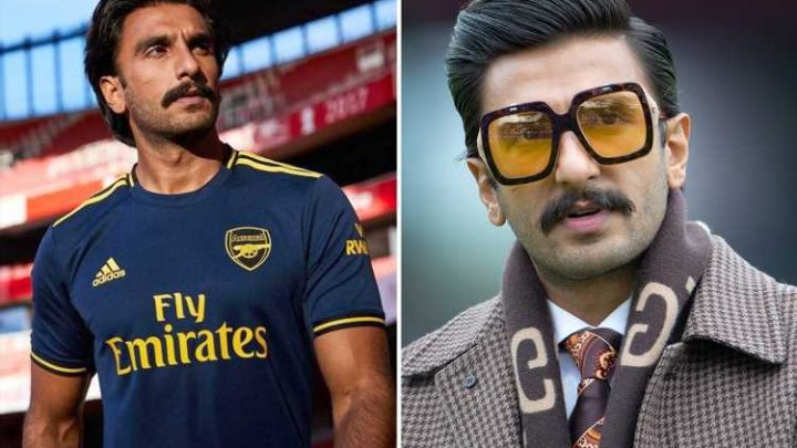 Bollywood superstar Ranveer Singh reveals he's an Arsenal fan as he dons new third kit at the Emirates – The Sun