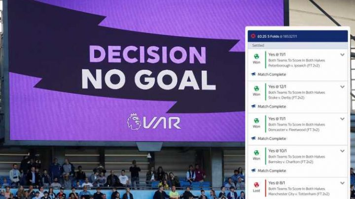 Punter left fuming after losing out on £45k accumulator on 25p bet following Man City winner disallowed by VAR – The Sun