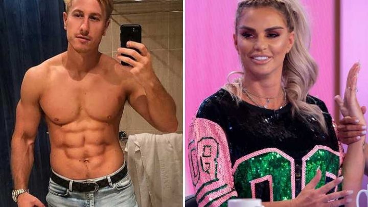 Kris Boyson stuns fans with his bulge as mystery over Katie Price engagement ring rumbles on