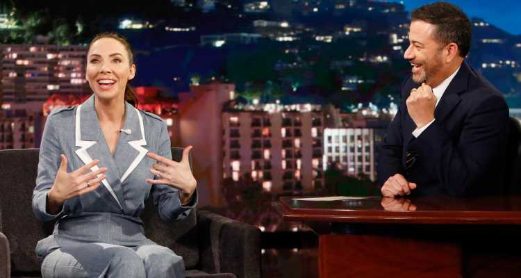 Whitney Cummings Tells Hilarious Story About Her Fiancé Meeting J.J. Abrams on 'Kimmel'!