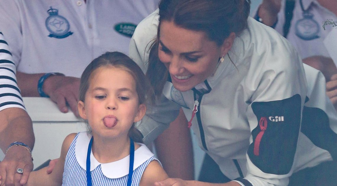 Princess Charlotte Sticks Out Her Tongue at Adoring Fans, Continues to Be a Tiny Icon