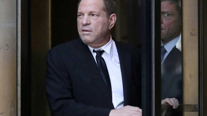 Harvey Weinstein escaped injury after crashing his car into a tree
