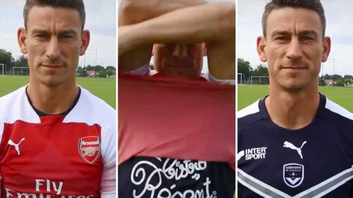 Laurent Koscielny branded 'disgusting' for 'disrespectful' Bordeaux unveiling in which he gets rid of Arsenal shirt – The Sun