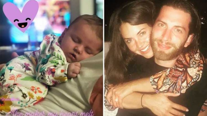 New mum Lacey Turner gushes over husband Matt Kay as he holds daughter Dusty – The Sun