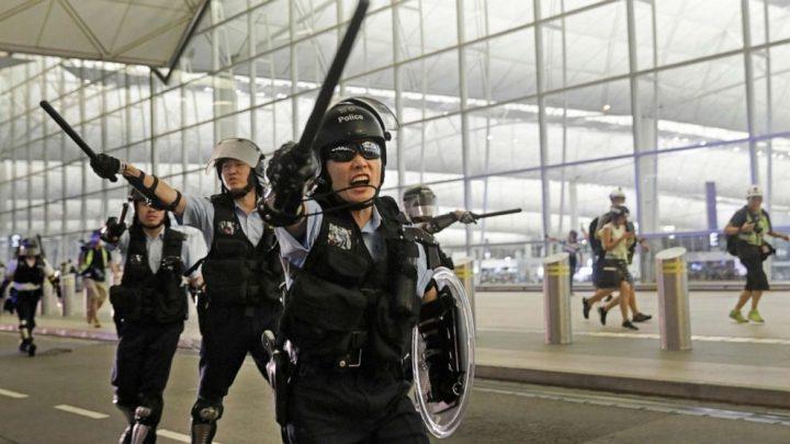 Hong Kong International Airport resumes flights after a night of violence