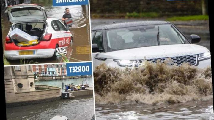 Flood warnings across UK after Britain ravaged by three days of rain – with Hurricane Lorenzo set to bring more misery later this week, Met Office warn – The Sun