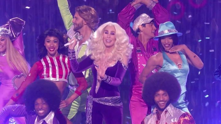 Cher, 73, looks sensational as she performs during America's Got Talent final