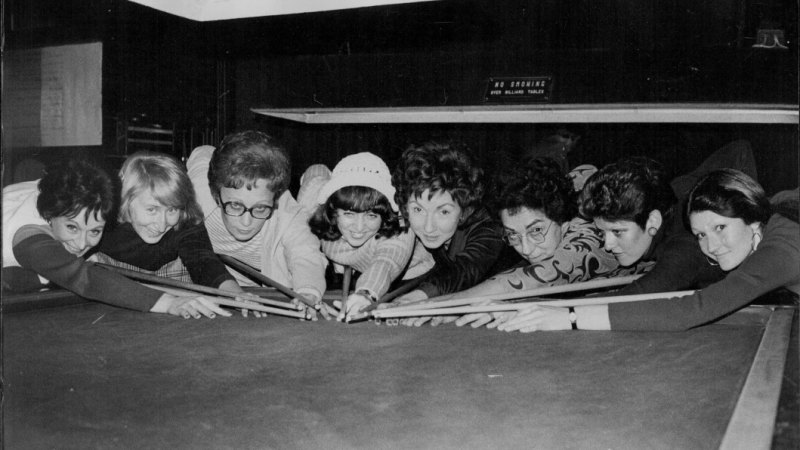 From the Archives, 1974: Chalk one up for the ladies of snooker