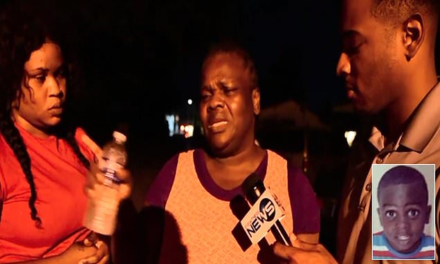 Grandmother cries as she reveals grandson, 8, died in Hurricane Dorian