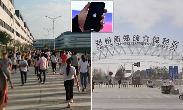 Apple iPhone factory in China 'banned workers from quitting'