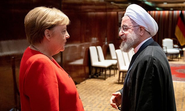 Merkel and Macron try to broker new US-Iranian talks at UN