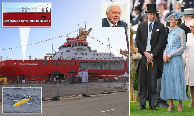 Kate and Wills to christen polar research ship Sir David Attenborough
