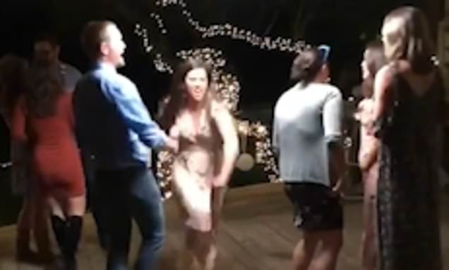 Wedding guests' attempt at Dirty Dancing lift goes spectacularly wrong