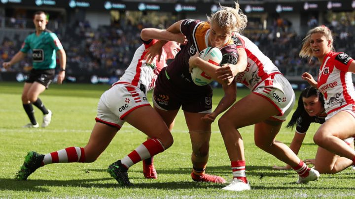 Broncos kick-off NRLW defence with tough win over new-look Dragons