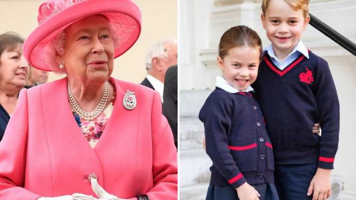 The Queen says that it's Charlotte that looks out for George, as her two great-grandchildren return to school