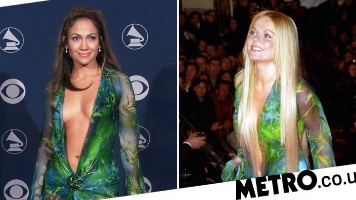 Geri Horner actually wore Jennifer Lopez's iconic Versace dress first
