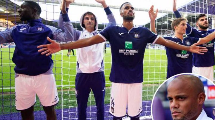 Anderlecht finally get first win of the season WITHOUT Vincent Kompany as he watches from bench nursing injury – The Sun
