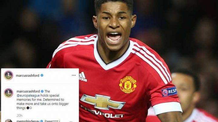 Depay hails Rashford on Instagram as Man Utd striker recalls Europa League debut goals that kick-started career – The Sun