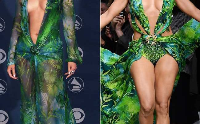 Jennifer Lopez Slays the Versace Runway in a More Naked Version of Her Iconic 2000 Grammys Dress — and the Crowd Goes Wild!