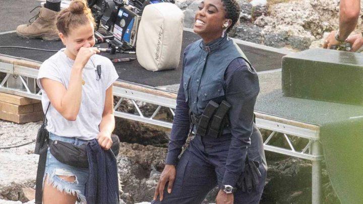 First look: Female 007 Lashana Lynch on James Bond set
