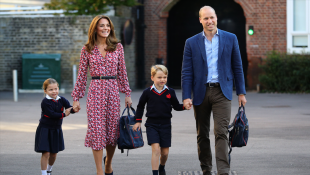 Princess Charlotte, 4, Looks Adorable While Arriving At 1st Day Of School With Parents William & Kate