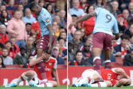 Sokratis in new low as he headbutts Wesley's knee before rolling around writhing – The Sun