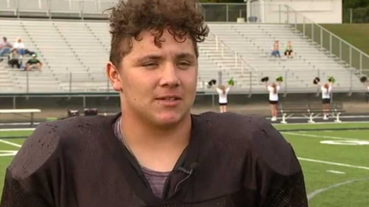 High school football player lifts car off neighbor to save his life