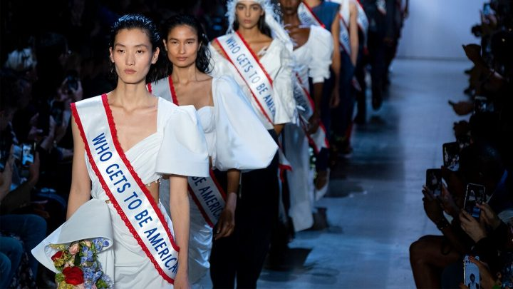 Fashion designer comments on immigration during runway show: 'Who gets to be American?'