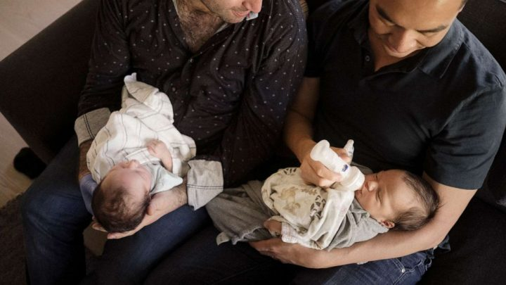 Couple welcomes two babies born 9 days and hundreds of miles apart