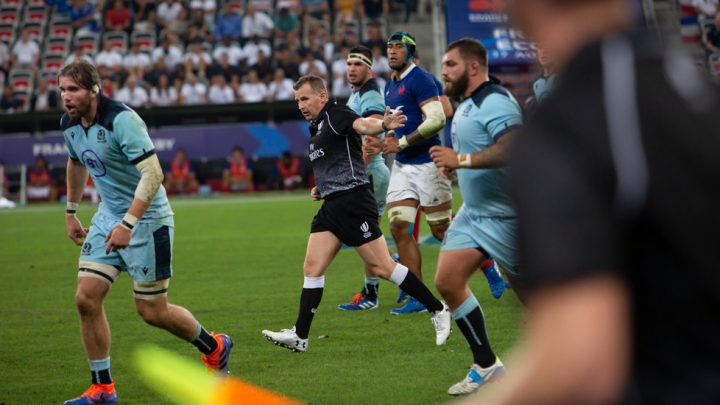 Rugby Referee Creates a Buzz While Keeping the Peace