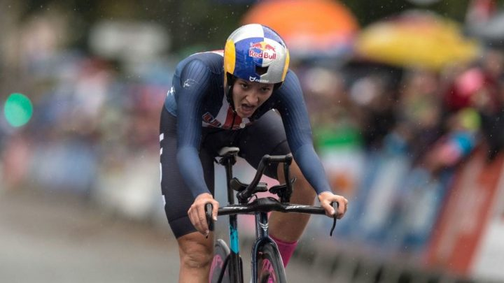 Chloe Dygert powers to time trial gold at UCI Road World Championships