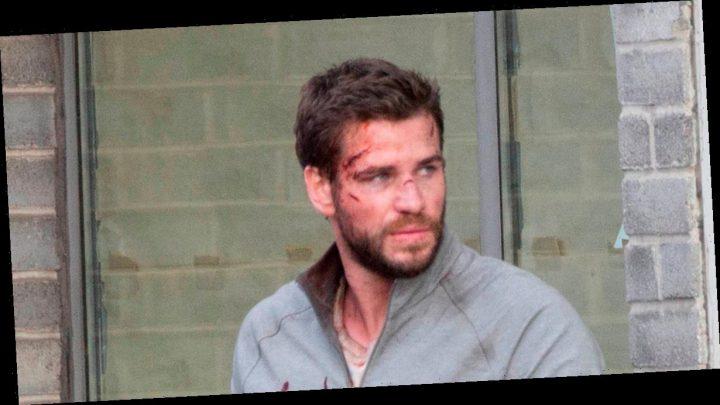 Liam Hemsworth gets battered and bloody on set of new TV series