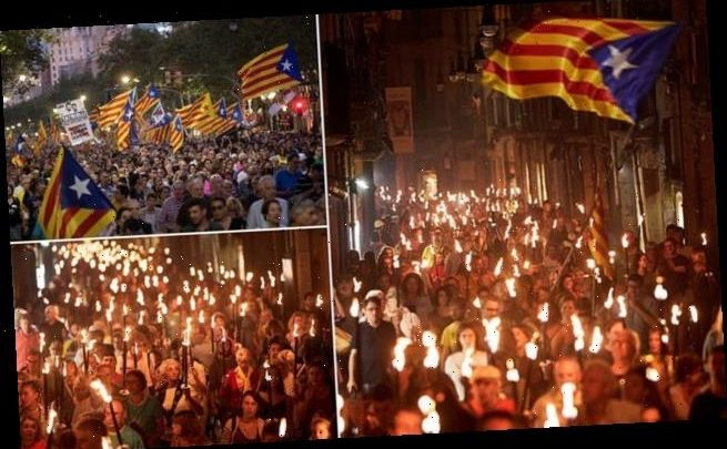 Thousands protest in Barcelona to demand Catalan independence