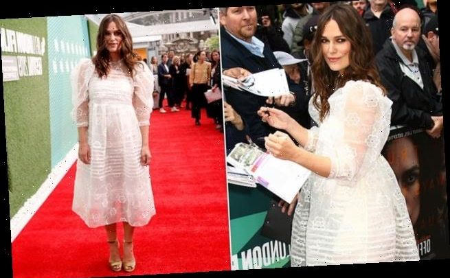 Keira Knightley shows off her post baby body Official Secrets premiere
