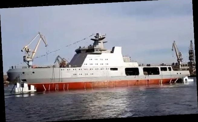 Russia launches missile-laden 'combat icebreaker' warship