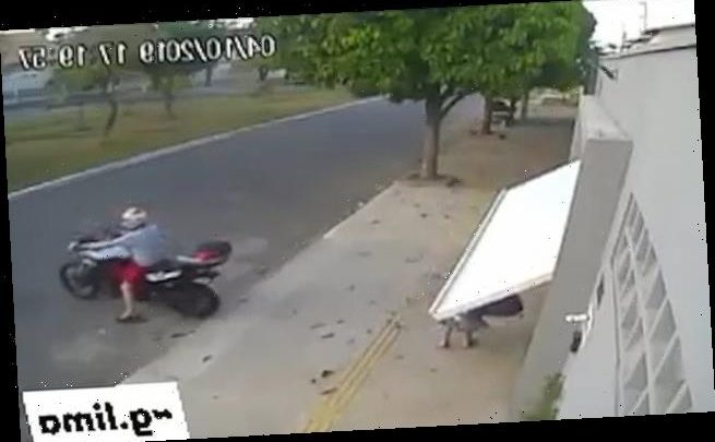 Woman 'accidentally kidnapped' when motorcyclist closes garage door