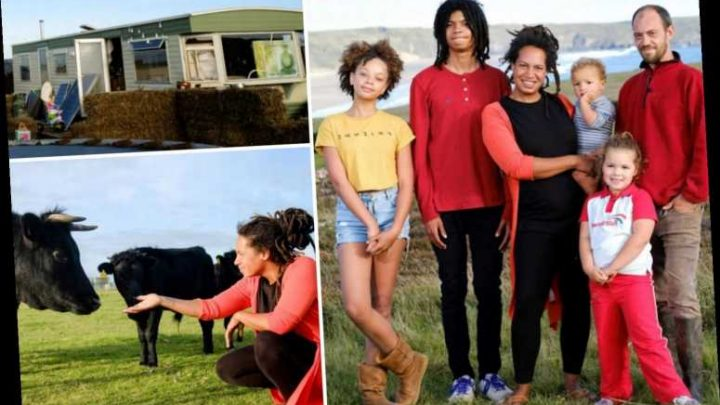 Frugal family of six quit London rat race to live off-grid in freezing caravan on Cornish cliff with no heating or TV – The Sun