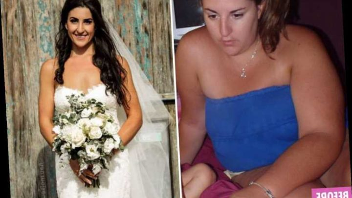 Weight loss: Bride is almost unrecognisable after losing 8 stone in 12 months without setting foot in a gym – The Sun