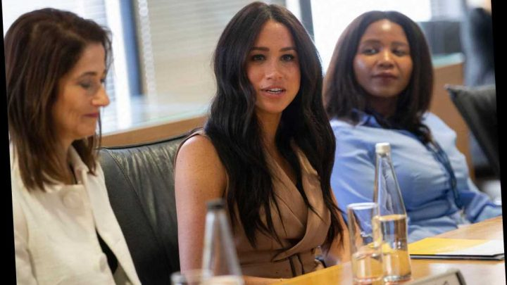 Meghan Markle says 'I can't screw up' as she breaks composure during impassioned speech – leaving the audience in fits of giggles – The Sun