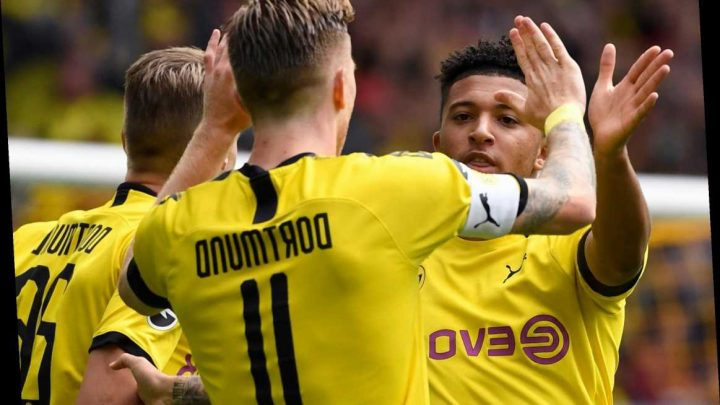 Jadon Sancho and Dortmund team-mates banned from shaking hands to stop flu spreading through squad – The Sun