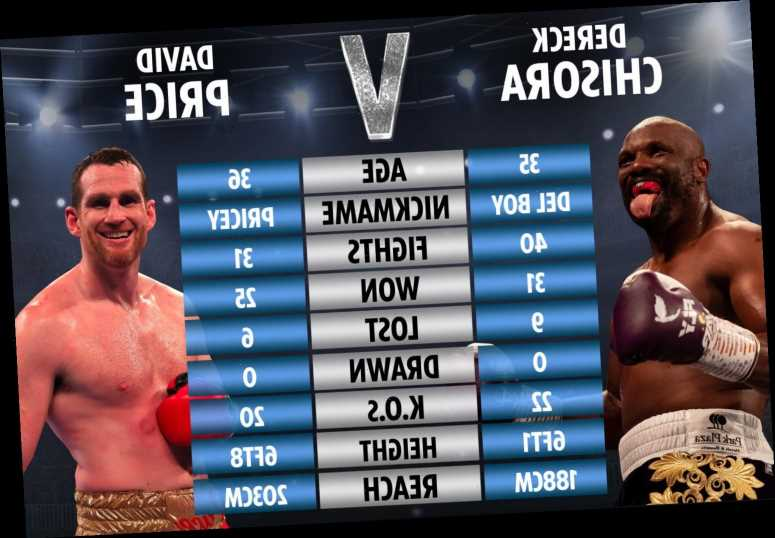 Chisora vs Price tale of the tape: How heavyweight pair match-up ahead of showdown in London – The Sun